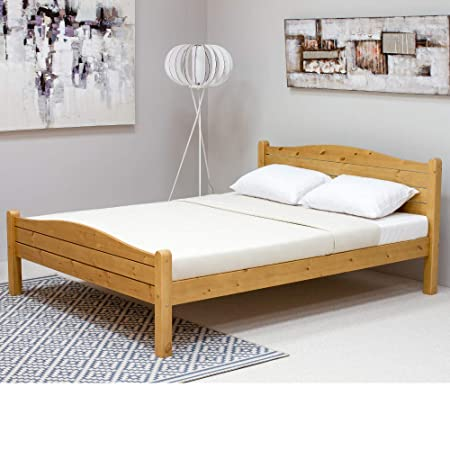 new product 8743c 0e7f7 Pine Wooden Bed, Happy Beds Elwood Wood Shaker Bed - 4ft ...