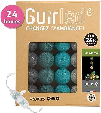 Guirnalda de bolas de algodón LED USB – Cargador doble USB 2 A ...