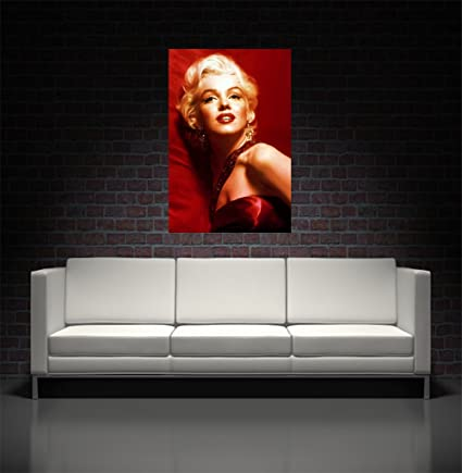 Amazoncom Marilyn Monroe Canvas Art Print Posters Prints