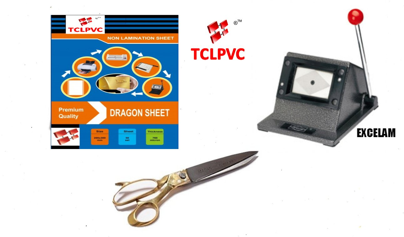 tclpvc dragon sheet id card cutter heavy scissor 50 sheets