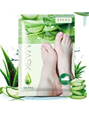 Awhao 5 Pair Exfoliating Remover Feet Mask Foot Peeling Mask Peel Away Calluses & Dead Skin