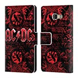 Official AC/DC ACDC Ornate Red Logo Leather Book Wallet Case Cover For Samsung Galaxy A5 (2017)