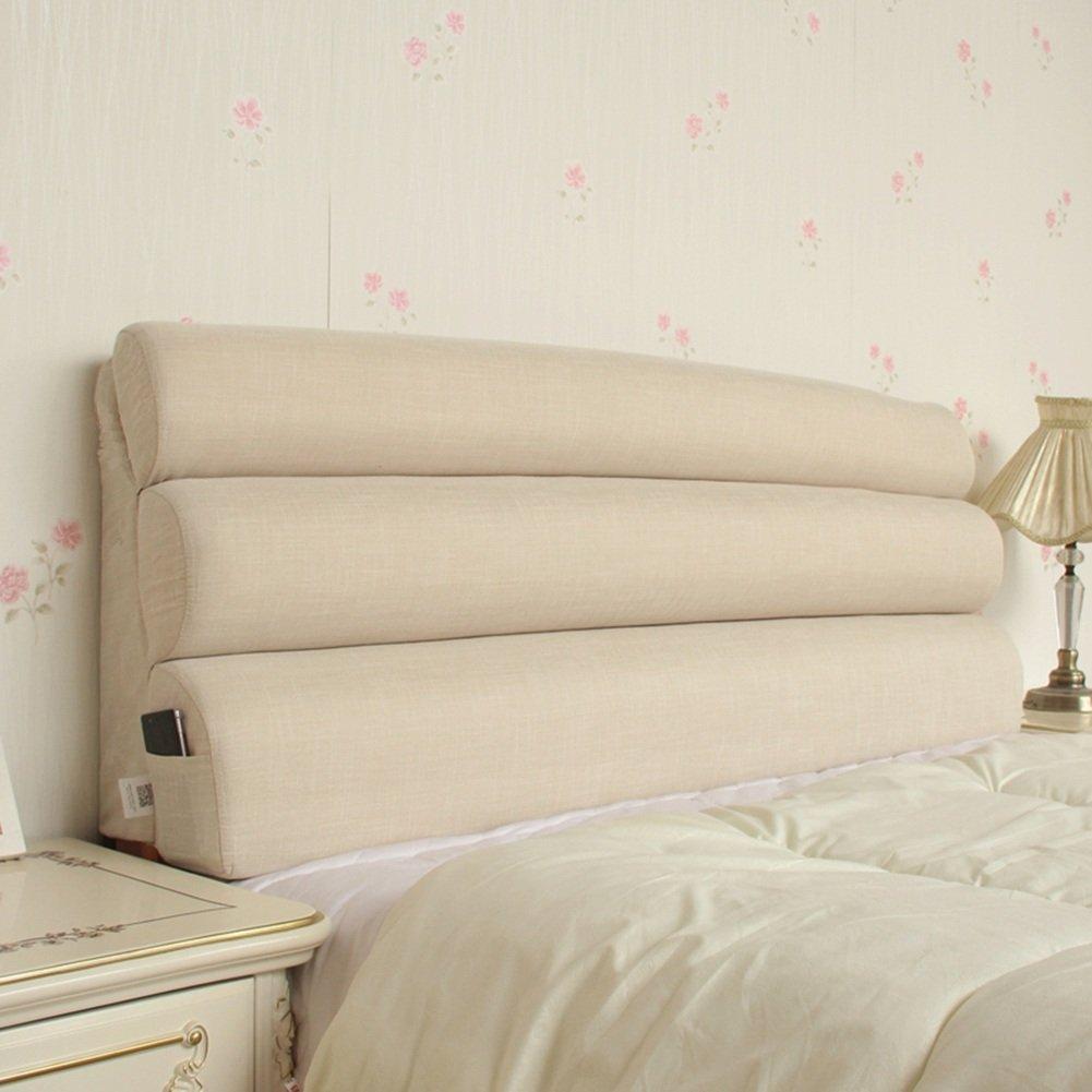 QIANGDA クッション ベッドの背もたれフルカバー スポンジを充填する ソファソフト枕 疲労を緩和し、 7色 6サイズ 利用可能 ( 色 : ベージュ , サイズ さいず : 203 x 55cm ) B07B9G8ZJC 203 x 55cm|ベージュ ベージュ 203 x 55cm
