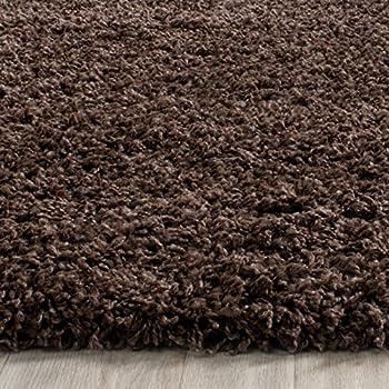 "Safavieh Laguna Shag Collection SGL303F Brown Area Rug (53"" x 76"")"