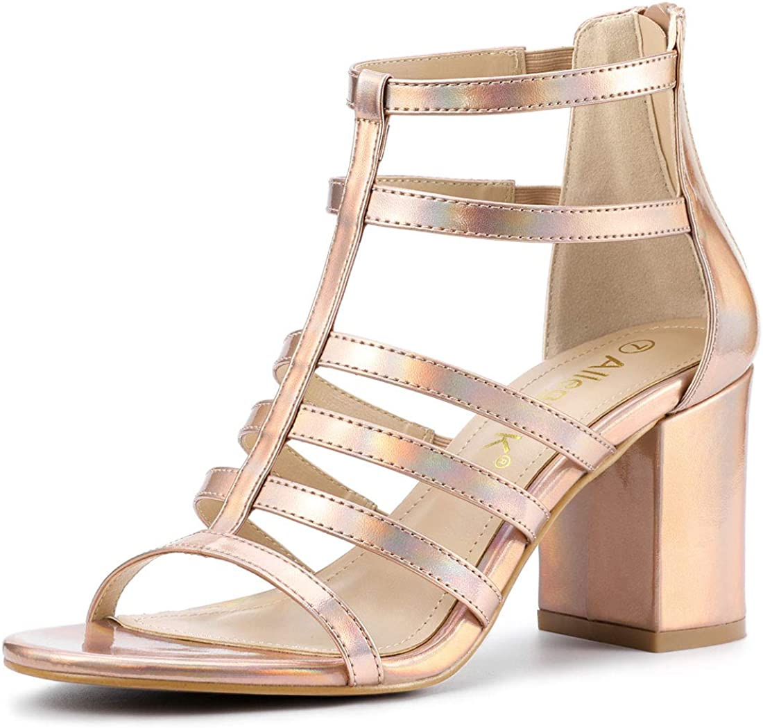 Chunky Gladiator Heels