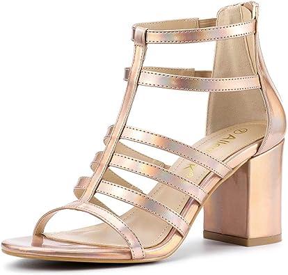 Strappy Chunky Gladiator Heel Sandals