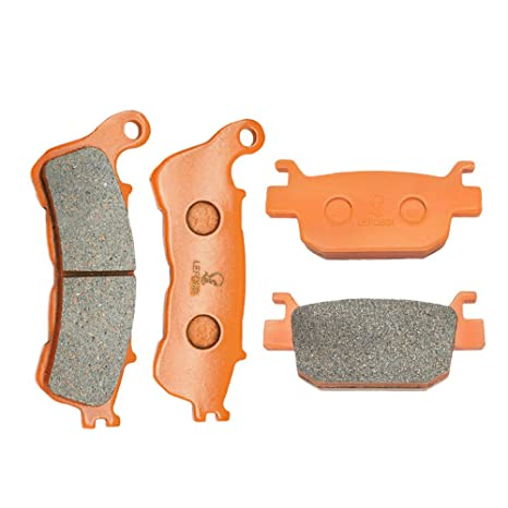 Amazoncom Lefossi Front Rear Carbon Fiber Brake Pads Brakes For