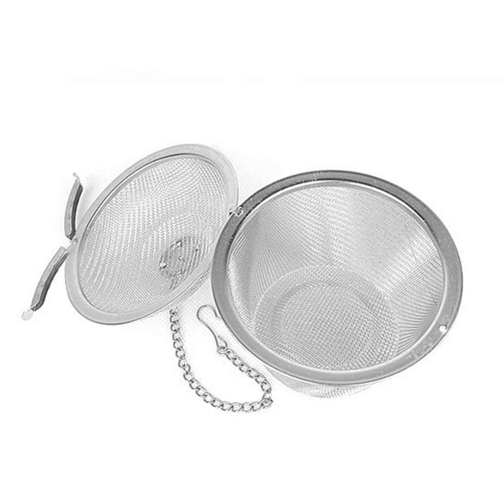 fibgihc 1pcs Stainless Steel Ball Tea Strainer Loose Leaf Spice Mesh Filter Infuser