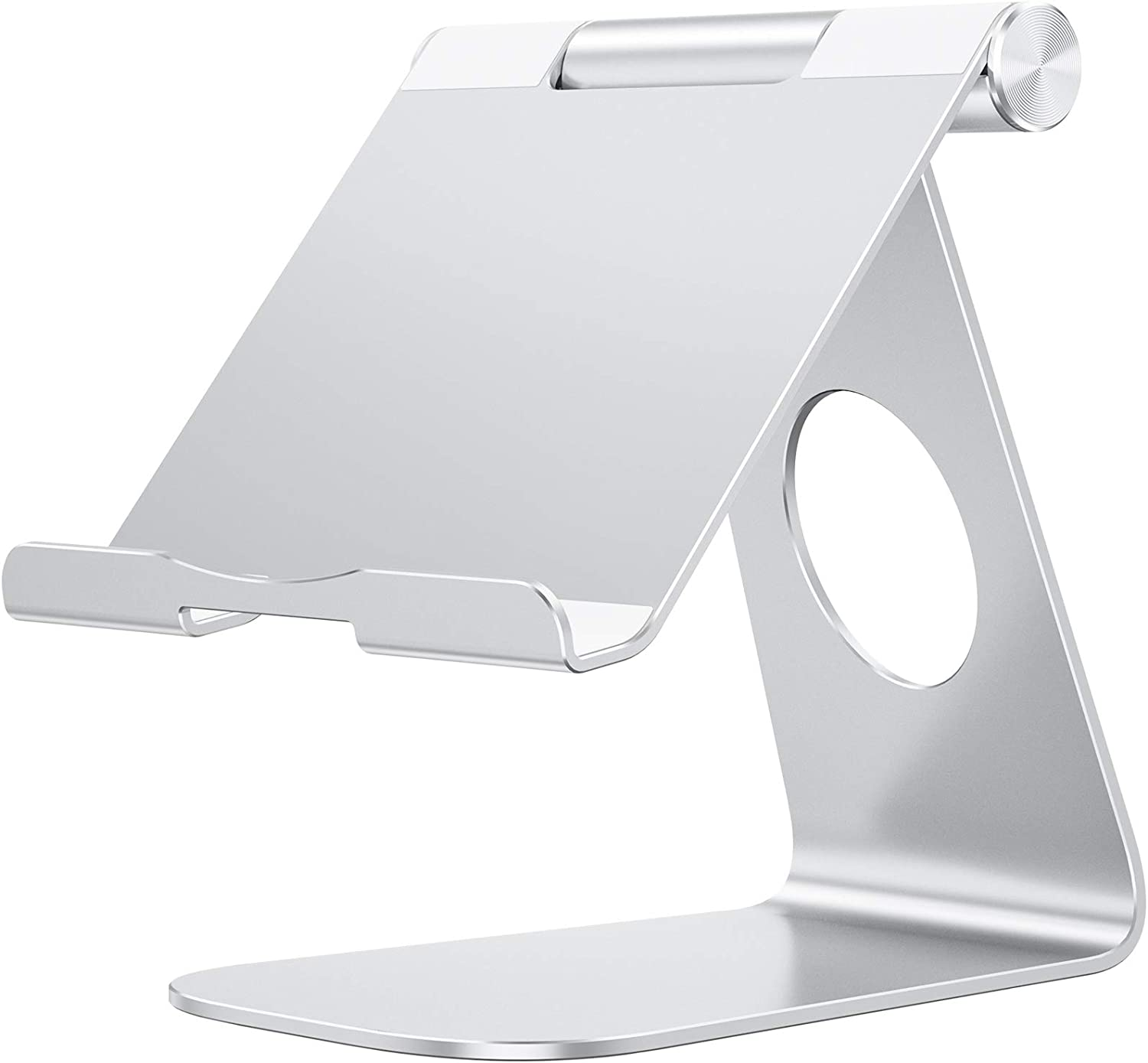 Tablet Stand Holder Adjustable, OMOTON T1 iPad Stand, Desktop Aluminum Tablet Dock Cradle Compatible with iPad Air 4/Mini, New iPad 10.2/9.7, iPad Pro 11/12.9, Samsung, Nintendo and More, Silver: Computers & Accessories