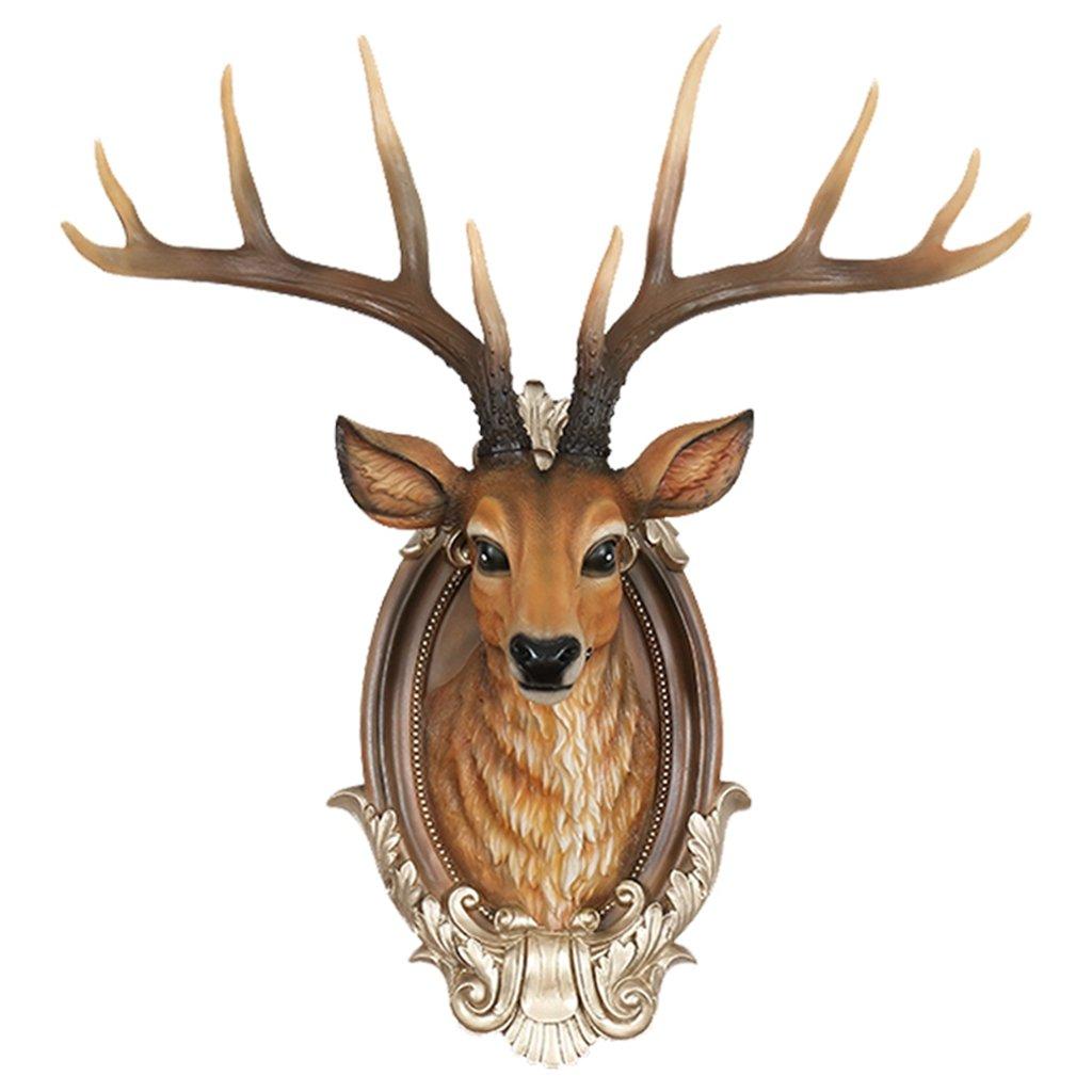 (ラシューバー) Lasuiveur 壁掛け 鹿 オブジェ 壁飾り アニマルヘッド インテリア 動物 ファション 工芸品 新築祝い 新築飾り B079243NCY