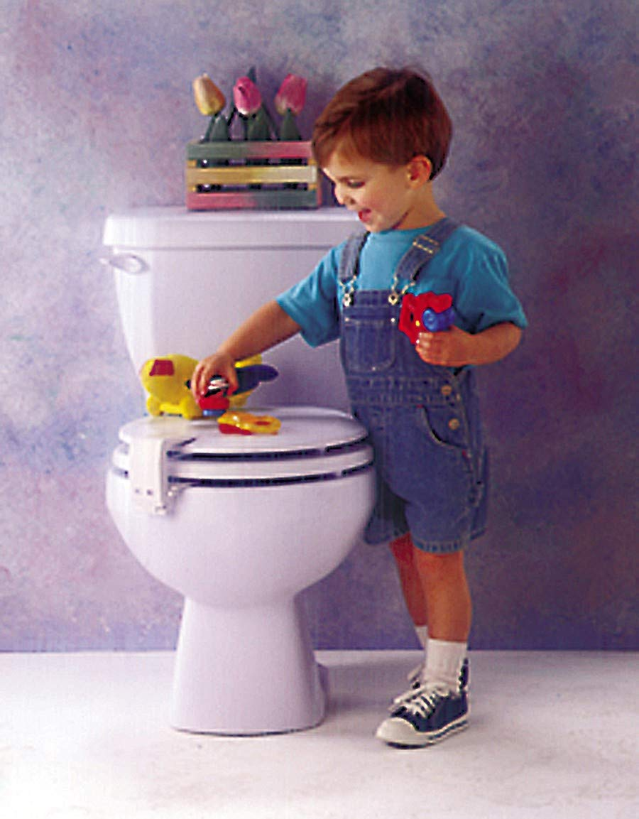 267103e63c728 Amazon.com : Mommy's Helper Toilet Seat Lid-Lok : Childrens Bathroom Safety  Products : Baby