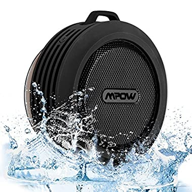 Mpow Buckler Bluetooth Wireless Waterproof Shower Speaker with Mic, Hands-free Calling Function for Shower, Outdoor Activities