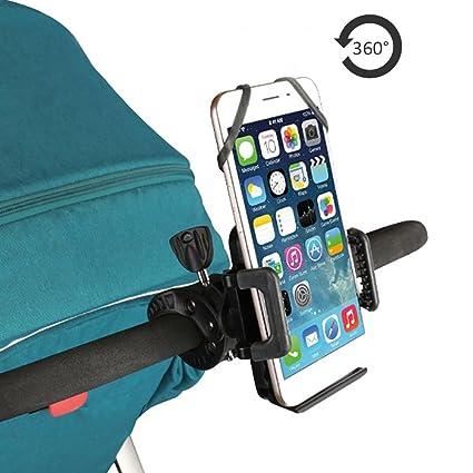 Starter Soporte de Teléfono para bicicleta, Soporte para cochecito para cochecito de bebé para iPhone 8 ...
