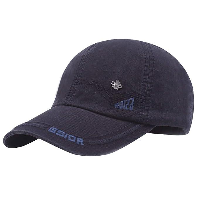 UMIPUBO Gorra de Béisbol Nueva Unisex Ajustable de Algodón Estilo Vintage Marca Bordado Sombreros Casuales de Deportes Hip Hop Cap (Azul Marino): Amazon.es: ...