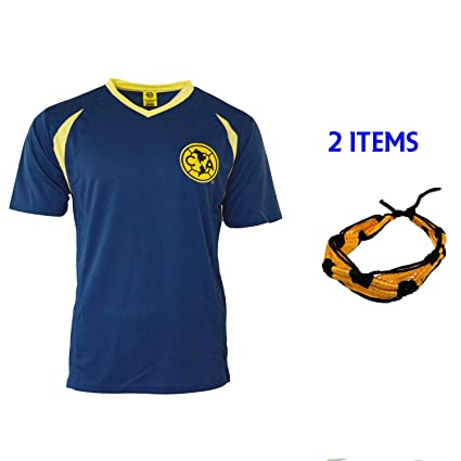 abb1deec7 Club America Soccer Jersey Mexico FMF Adult Training Aguilas del America  (Blue