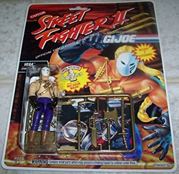 G.I. Joe Street Fighter II Vega Spanish Ninja 3 3/4 Action ...