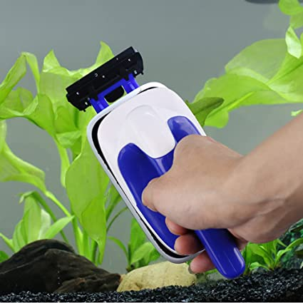 Corcrest (TM) práctico flotante magnético cepillo acuario pecera de cristal algas rascador limpiador acuario