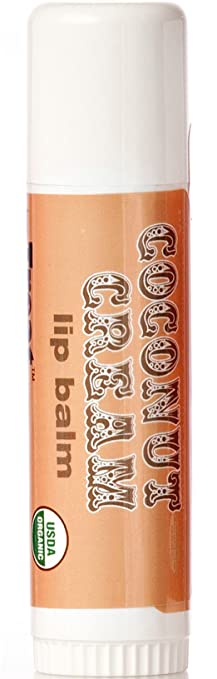 Treat JUMBO Organic Lip Balm, Coconut Cream, Cruelty Free .50 Ounces