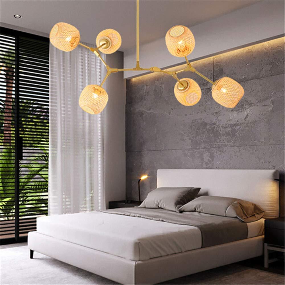 Amazon.com: DECORATZ LED Bamboo Weaving Lampshade Molecular ...
