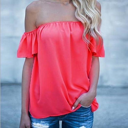 Manadlian - T-shirts,Femme T-Shirt sans Manches à Manches Longues épaules  Dénudées  Amazon.fr  Vêtements et accessoires d67c5bde3bdf