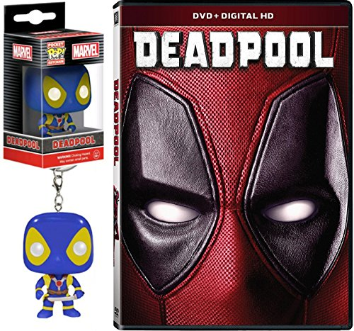 Marvel Deadpool with Gag Reel (DVD + Digital HD) + Marvel Exclusive Deadpool X-Men Pop! Mini Keychain Figure Pack