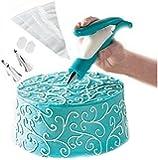 Lesirit Kitchen Cake Decorating Pen Tool Kit (Blue)