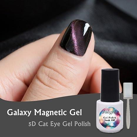 Joligel Esmalte Gel Magnético 2018 Efecto 5D Láser de Multicolor Gradiente Galaxia, Shellac Esmaltes Permanentes Uñas ...