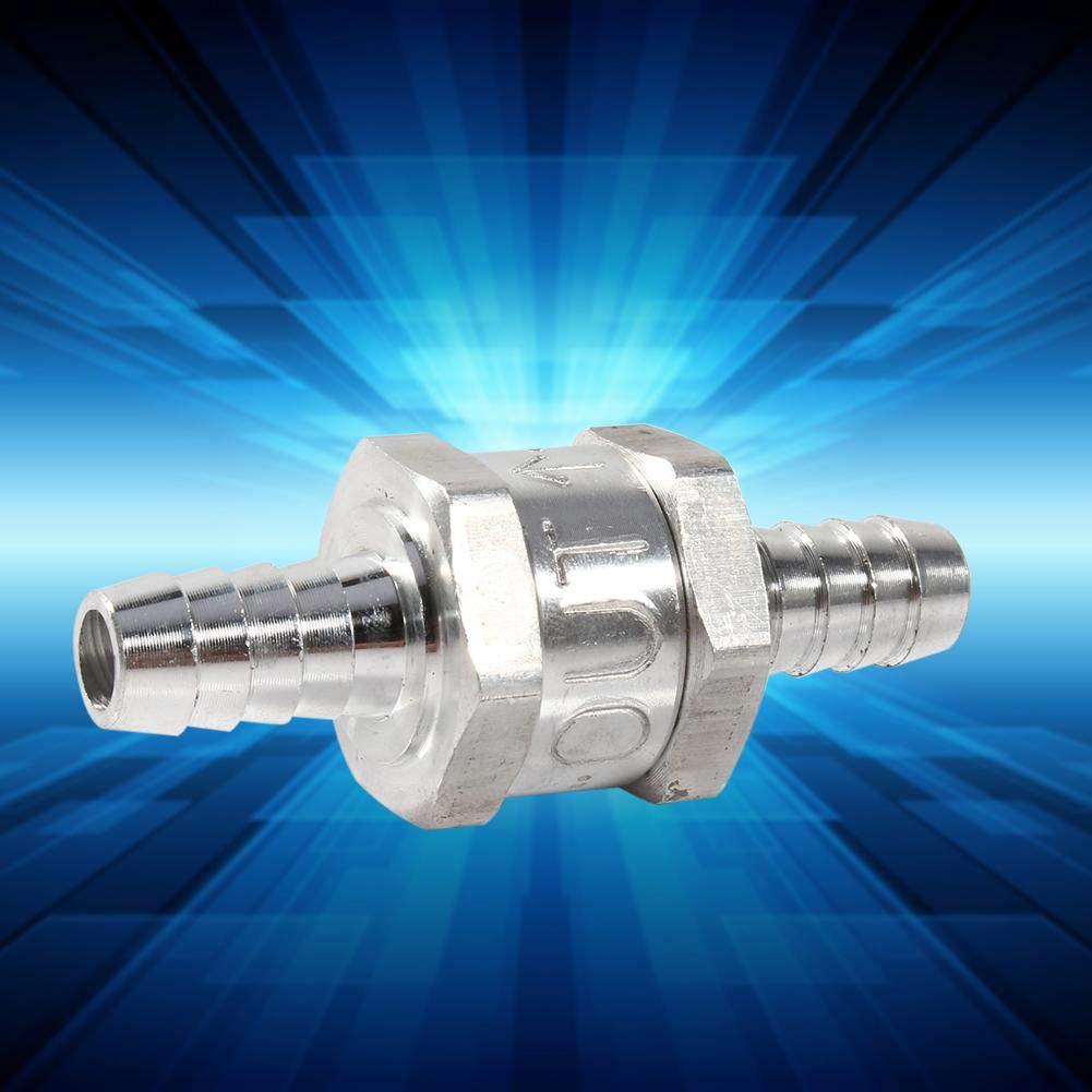 TOPINCN V/álvula Antirretorno de Retorno de Combustible de Aluminio Gasolina Di/ésel Combustible Diesel Di/ámetro de 10 mm Ajuste para Carburadores Plata