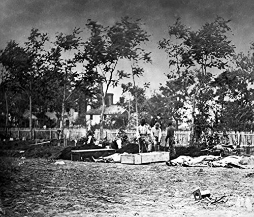 Fredericksburg, VA - Burying the Dead at the Hospital Civil War Photograph (24x36 SIGNED Print Master Giclee Print w/ Certificate of Authenticity - Wall Decor Travel (Hospital Signed)