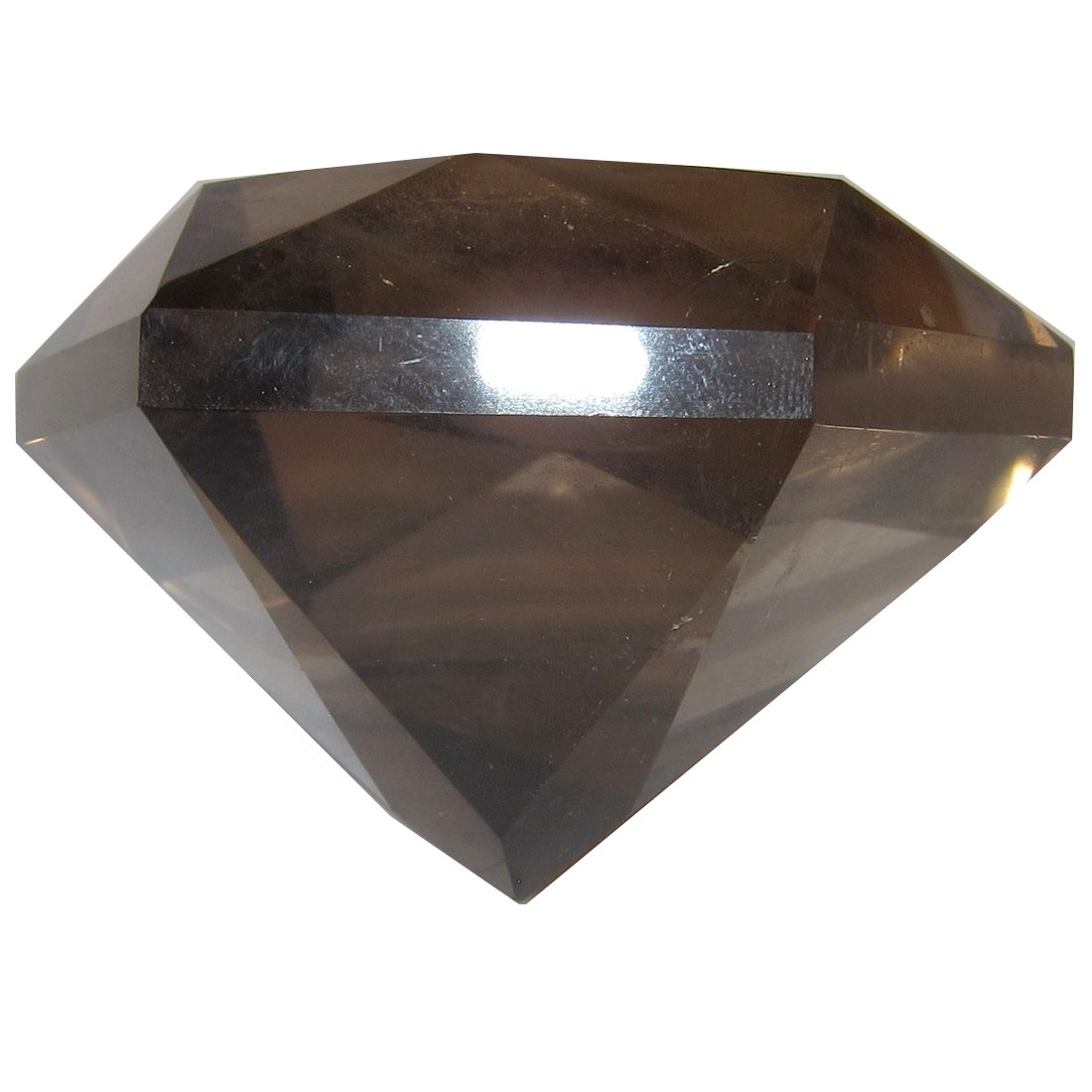 Smoky Quartz Polygon 53 Big Clear Crystal Multi Faceted Diamond Star of David Healing Spiritual Stone 2.5''