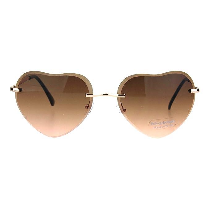 Amazon.com: Gafas de sol retro con forma de corazón para ...