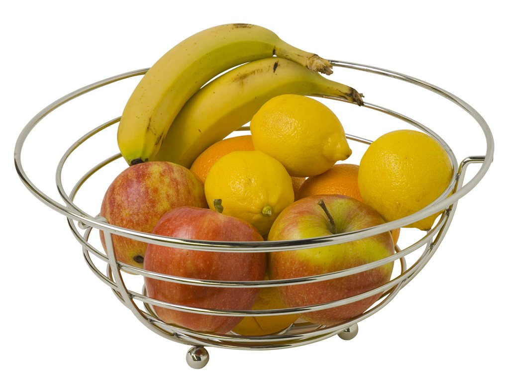Home Basics Chrome Sphere Collection Fruit Bowl by Home Basics