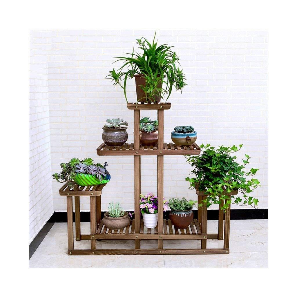 植物収納ラック 5層フラワースタンド - 木製多層コンビネーションラダー - フラワースタンドディスプレイスタンド (Color : B) B07SHGQ915 B