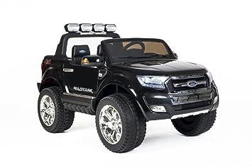 Babycar 650 Nauto - Coche para niños Jeep SUV Ford Ranger (negro) Luxury con