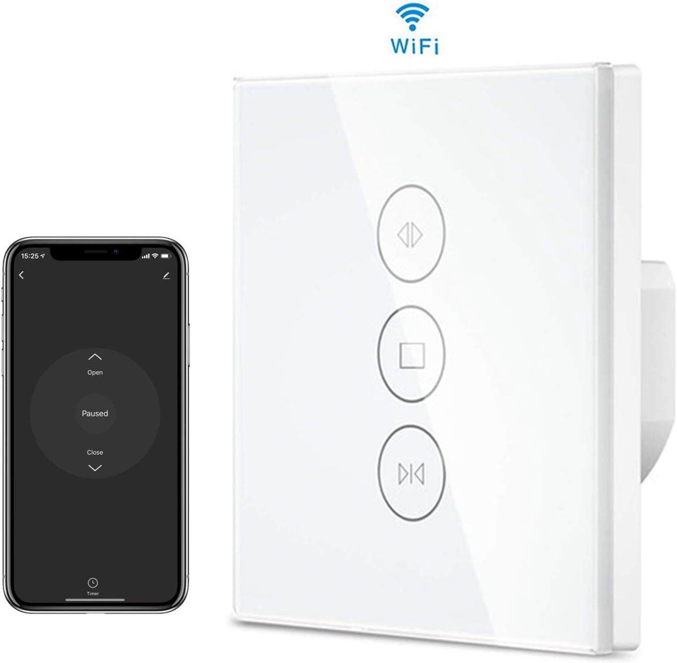 MuZhuo Interruptor de luz de Ventilador inteligente WiFi,Wifi Interruptor de ventilador inal/ámbrico con temporizador y luz Control de Alexa//Google Interruptor de luz WiFi inteligente
