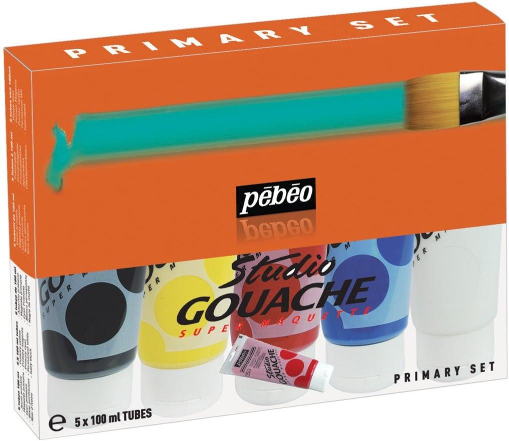 Temperas PEBEO Studio Gouache surtido de tubos de 100 ml-