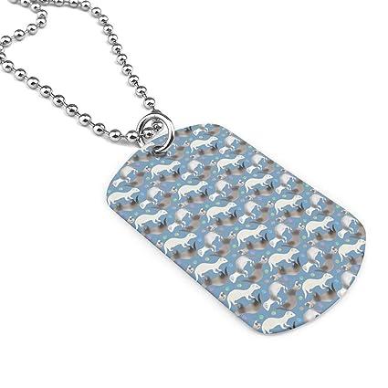 Amazon com: Ferrets Having A Ball Dog Tag Pendant Necklace