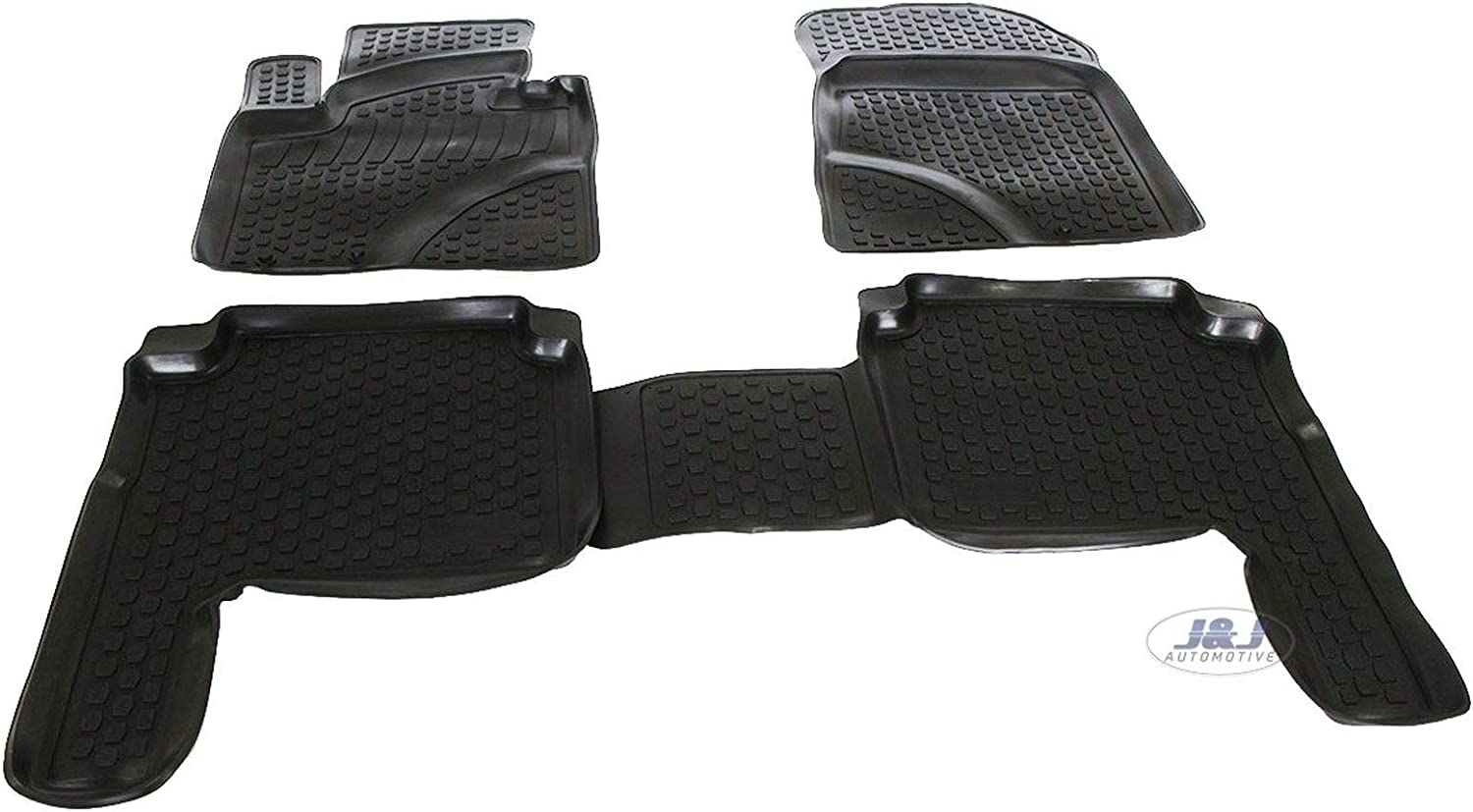 J/&J AUTOMOTIVE Tapis DE Sol en Caoutchouc 3D Exclusive Compatible avec KIA Sorento 2009-2012 4 pcs