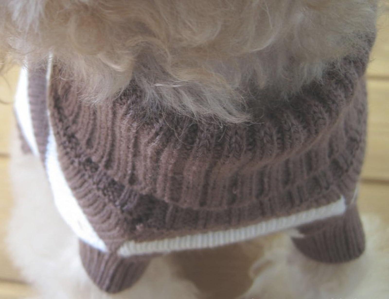 Turtleneck Stripes Pet Clothes Dog Wool Classic - 4