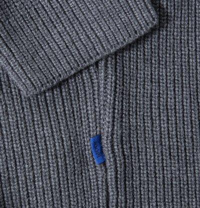 JOOP! Herren Pullover Schurwollmix Sweater Unifarben, Größe: M, Farbe: Grau