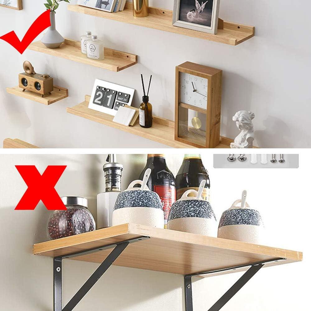 8 soportes de estante flotante para estantes invisibles para bricolaje y pared personalizada