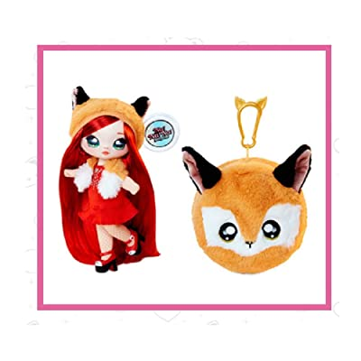 Fashion Doll Na Na Na Surprise 2-in-1 Roxie Foxy with Zippered Plush Fox POM: Toys & Games