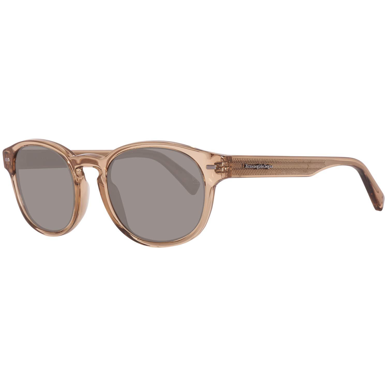 de115ce8dc82 Amazon.com: Sunglasses Ermenegildo Zegna EZ 29 EZ0029 45N shiny light brown  / green: Clothing