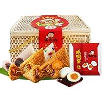 朱先森 竹篮粽子礼盒 嘉兴端午节粽子礼盒(龙腾端午10粽8味4鸭蛋1400克)