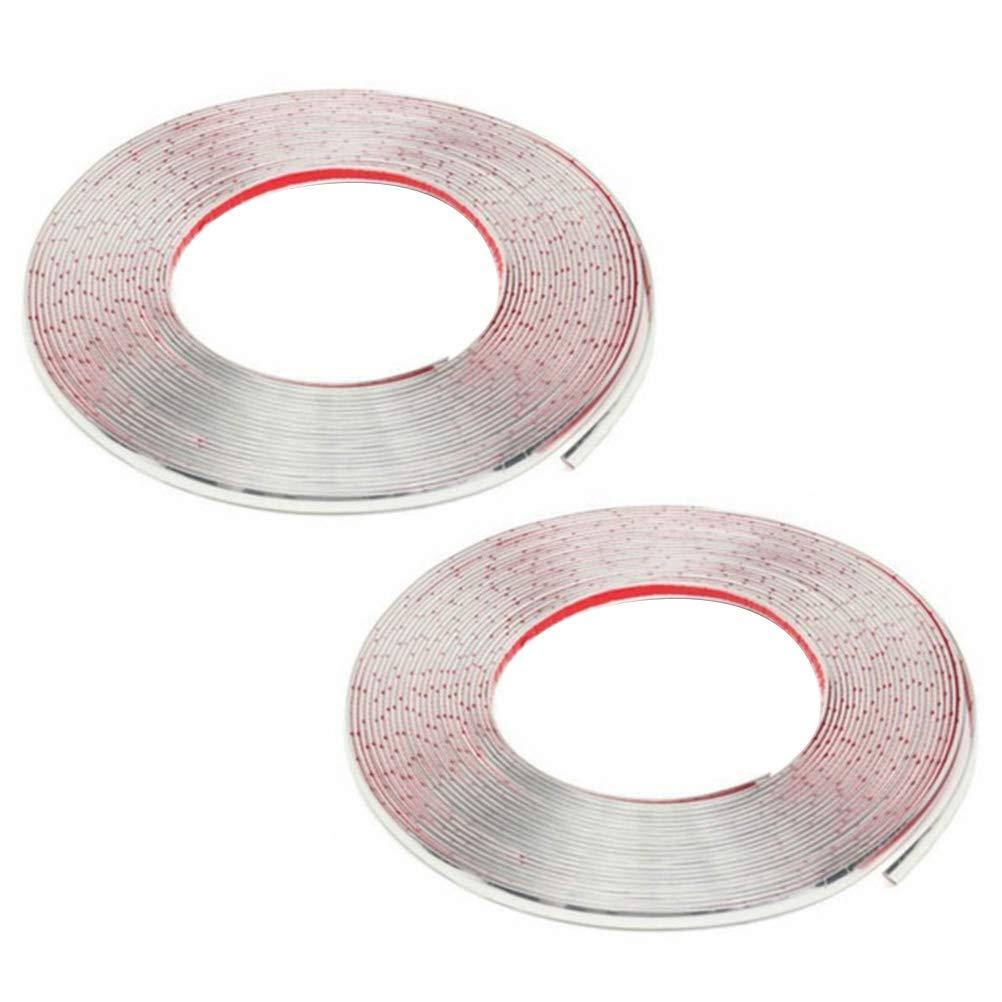 Vosarea 2PCS 6 Meters Car Window Chrome Trim Strip Body Anti-Scratch Anti-Collision Strip(Silver) by Vosarea