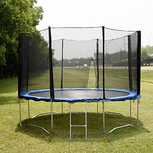 12 FT Trampoline Combo Bounce Jump Safety Enclosure Net W/Spring Pad & Ladder TKT-11 by TKT-11