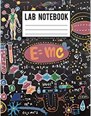 """Lab Notebook: Physic Lab Notebook - 8""""x10"""" (0.25"""" Graph Paper Notebook) - Student Lab Notebook: Student Lab Notebook"""