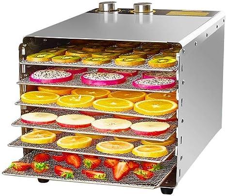 Opinión sobre L.TSA Deshidratador de Alimentos Deshidratador de Frutas Deshidratador Secador de Alimentos Rectangular de Acero Inoxidable de 6 Capas Secador de Frutas, sincronización de Temperatura Consta