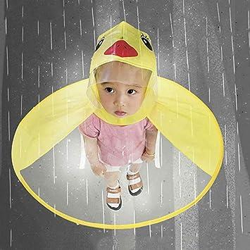 Sgyx Niños Paraguas Sombrero mágico Manos Libre Impermeable ...