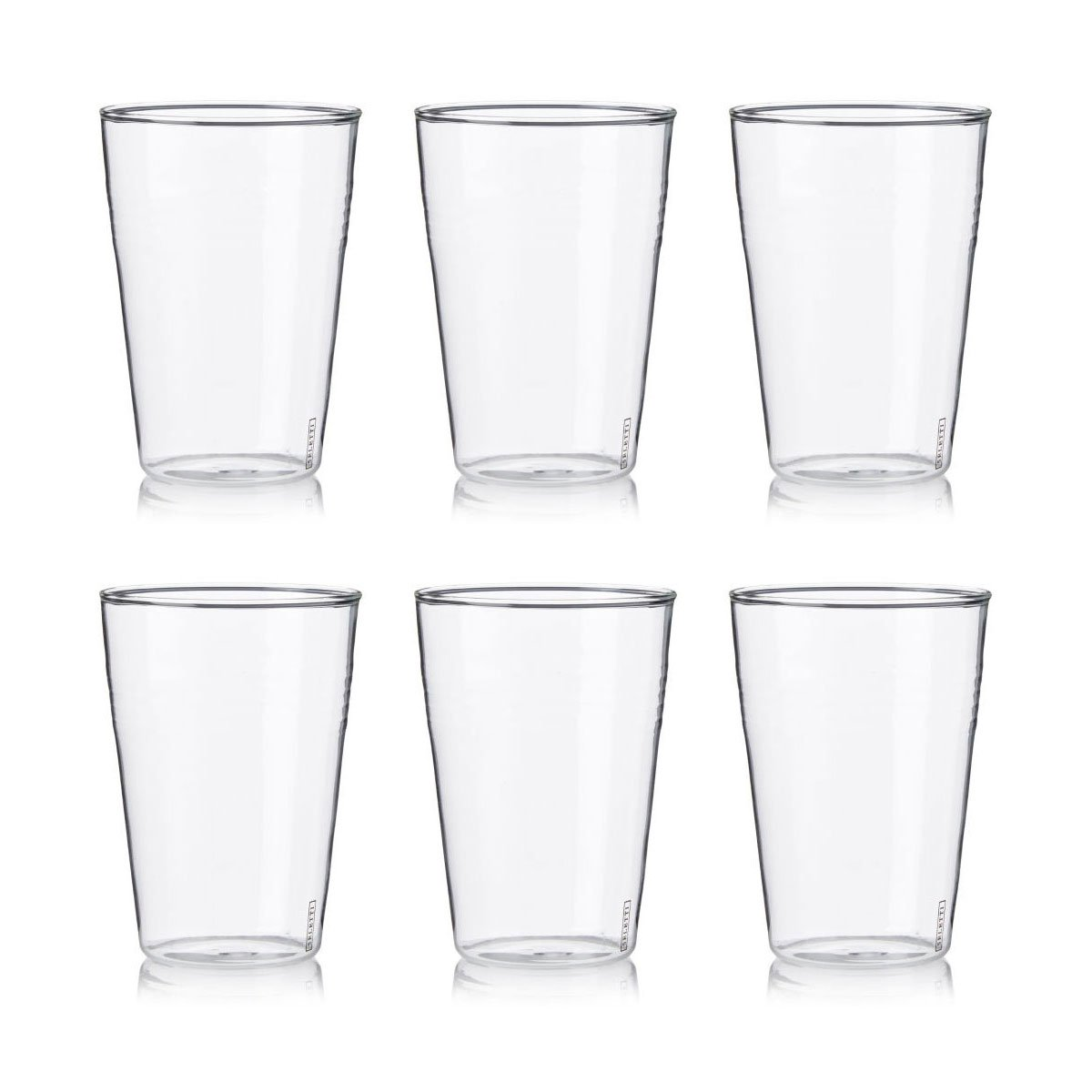 Estetico Quotidiano Beer and Cocktail Glass [Set of 6]